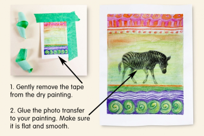 PHOTO TRANSFER GREETING CARD – Pattern, Colour, Contrast - Step Five