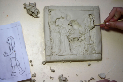 GAMES THEN AND NOW – Clay Relief Sculpture - Step Eight