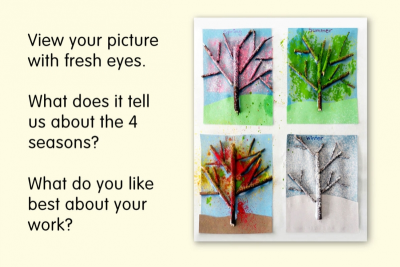 THE FOUR SEASONS – Mixed Media Trees - Step Five