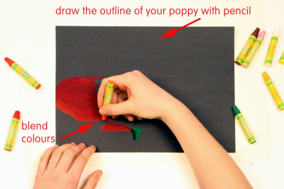 REMEMBRANCE DAY POPPY – Inspired by Georgia O'Keeffe - Step Two