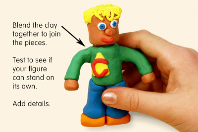 CYLINDER MAN – Modeling Clay Figure - Step Three