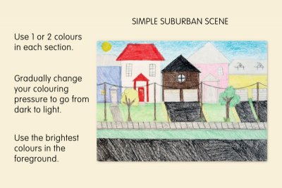 MEDIA SUBURBAN SCENE – Foreground, Middleground, Background - Step Five