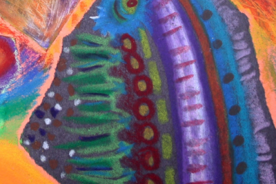 EXPLORING OIL PASTEL – Coloured Paper - Step Eight