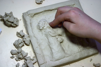 GAMES THEN AND NOW – Clay Relief Sculpture - Step Nine