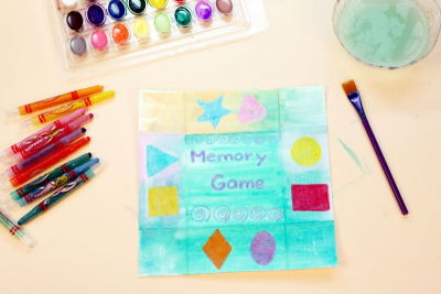 MEMORY GAME – Geometry, Colour, Shape - Step Four