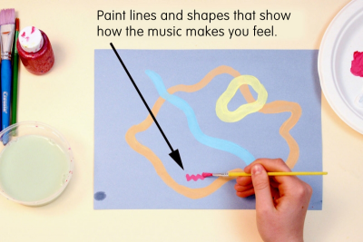 SNOWFLAKE MELODY – Painting To Music, Geometric Design - Step One
