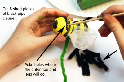 BUZZY BEE – Creating a Kazoo Puppet - Step Eight