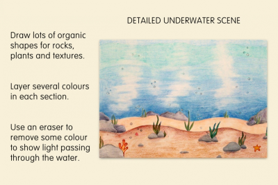 MEDIA UNDERWATER SCENE –Foreground, Middle Ground, Space - Step Five