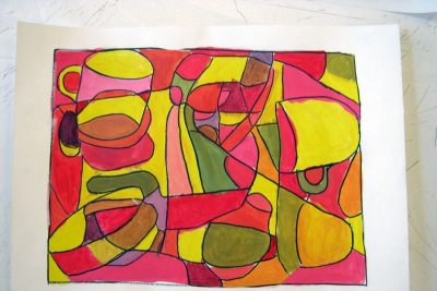 CREATING CUBISM – Shape, Colour, Harmony - Step Nine