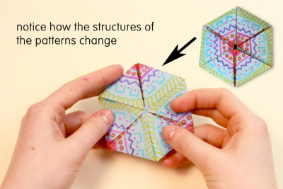 HEXA-HEXAFLEXAGONS – Pattern, Colour, Geometry - Step Four