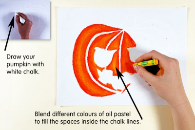 PUMPKIN FACES – Blended Colour, Expression, Contrast - Step Two