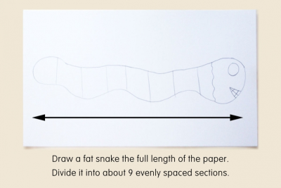VALUE SCALE SNAKE –Mixing Tints - Step One