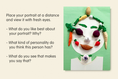 ROOT VEGETABLE PORTRAIT – Inspired by Giuseppe Arcimboldo - Step Five