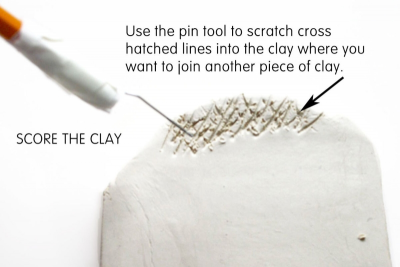 SCORE AND SLIP – Joining Pieces of Clay - Step Four