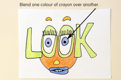 ILLUSTRATED WORD – Colour, Symbol, Shape - Step Three