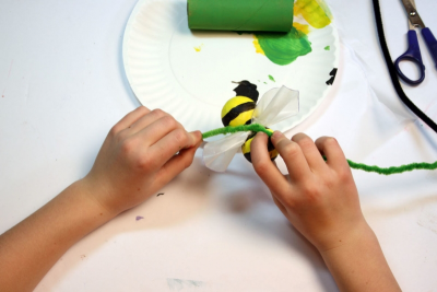 BUZZY BEE – Creating a Kazoo Puppet - Step Ten