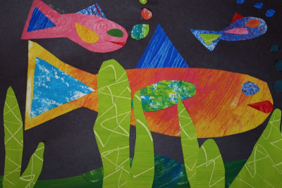 MY FAVOURITE THINGS – Art in the Style of Eric Carle - Step Seven