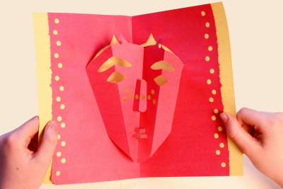 POP-UP MASK – Contrast, Symmetry, Measurement - Step Thirteen
