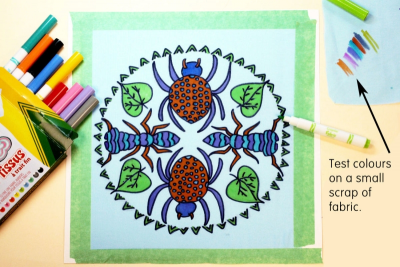 HANGING ROUND – Radial Symmetry, Pattern, Colour - Step Five