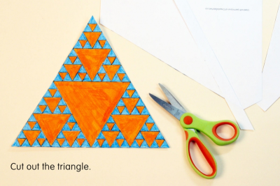 SIERPINSKI TRIANGLE – Fractals, Colour Schemes, Repetition - Step Four