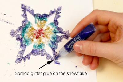 SNOWFLAKE MELODY – Painting To Music, Geometric Design - Step Five