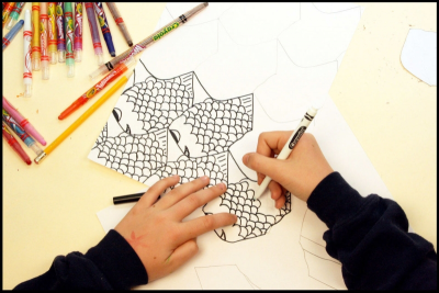 TANTALIZING TESSELLATIONS – Irregular Polygons, Colour - Step Six