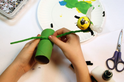 BUZZY BEE – Creating a Kazoo Puppet - Step Fifteen