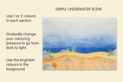 MEDIA UNDERWATER SCENE –Foreground, Middle Ground, Space - Step Four