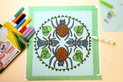 HANGING ROUND – Radial Symmetry, Pattern, Colour - Step Six