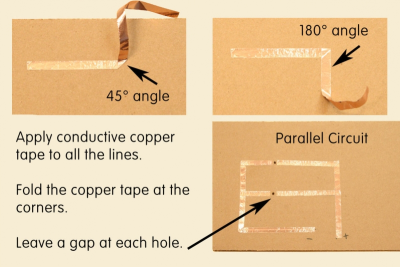PARALLEL PAPER CIRCUIT – Symmetry, Contrast, Emphasis - Step Six