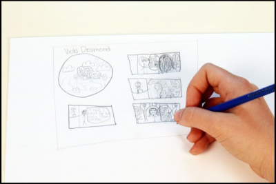 VIOLA DESMOND –Canadian Civil Rights Hero, Graphic Story - Step Two
