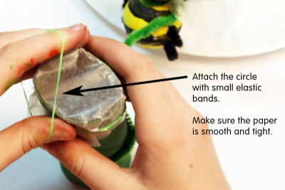 BUZZY BEE – Creating a Kazoo Puppet - Step Eleven