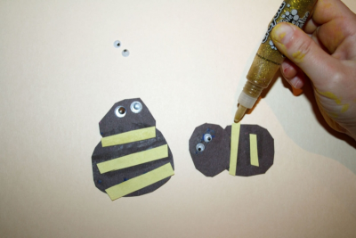 SWEET LITTLE HONEY BEES! – Printmaking, Cutting, Gluing - Step Six