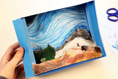 INSPIRED BY EMILY CARR –Canadian Artist, Tunnel Book - Step Eleven