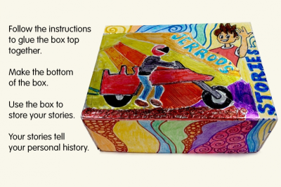 MY STORY BOX –Personal History, Colour, Texture - Step Four