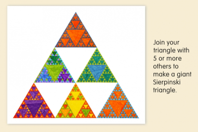 SIERPINSKI TRIANGLE – Fractals, Colour Schemes, Repetition - Step Five