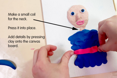 SELF-PORTRAIT INSPIRED BY A TOY – Form, Detail, Colour - Step Six