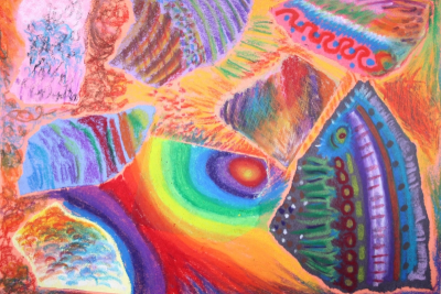 EXPLORING OIL PASTEL – Coloured Paper - Step Fifteen