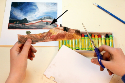 INSPIRED BY EMILY CARR –Canadian Artist, Tunnel Book - Step Ten