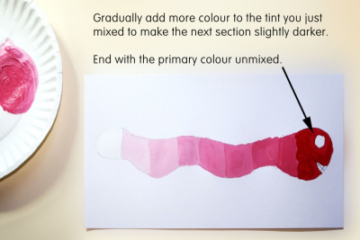VALUE SCALE SNAKE –Mixing Tints - Step Three