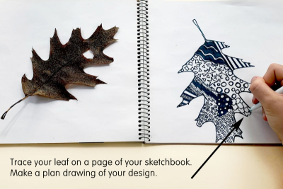 DESIGNER LEAF – Pattern, Line, Contrast - Step Two