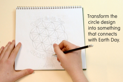 EARTH DAY CIRCLE ART – Symmetry, Colour, Contrast - Step Two