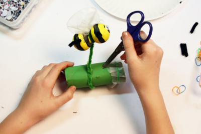 BUZZY BEE – Creating a Kazoo Puppet - Step Nineteen