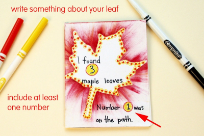 MY LITTLE LEAF BOOK – Shape, Contrast, Pattern - Step Seven