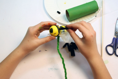 BUZZY BEE – Creating a Kazoo Puppet - Step Fourteen