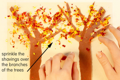 TREES IN FALL – Shape, Line, Colour - Step Four