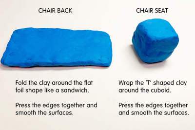 MINI SOFA AND CHAIR – Form, Colour, Texture - Step Five