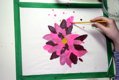 PLANTS IN NATURE – The Ancient Art of Batik on Fabric - Step Five