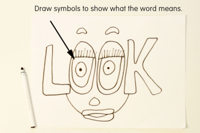 ILLUSTRATED WORD – Colour, Symbol, Shape - Step Two