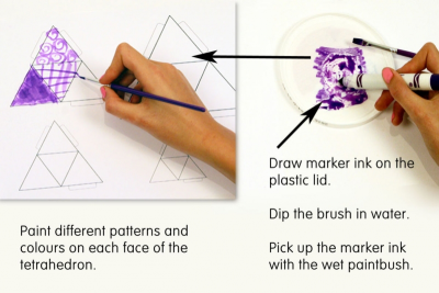 TINY TETRAHEDRONS – Geometry, Pattern, Balance - Step One